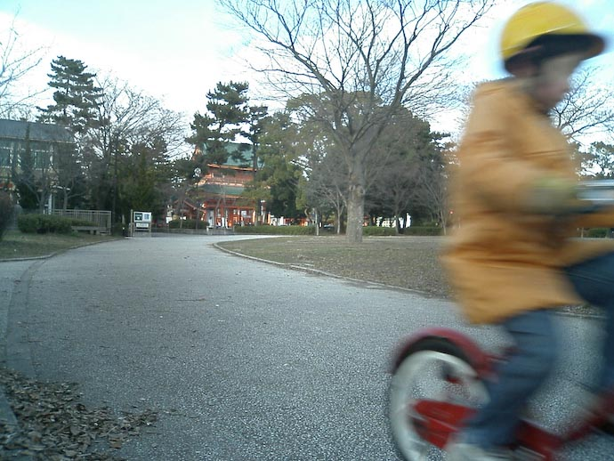 Too Fast for my Cell-Phone Camera -- Kyoto, Japan -- Copyright 2008 Jeffrey Eric Francis Friedl