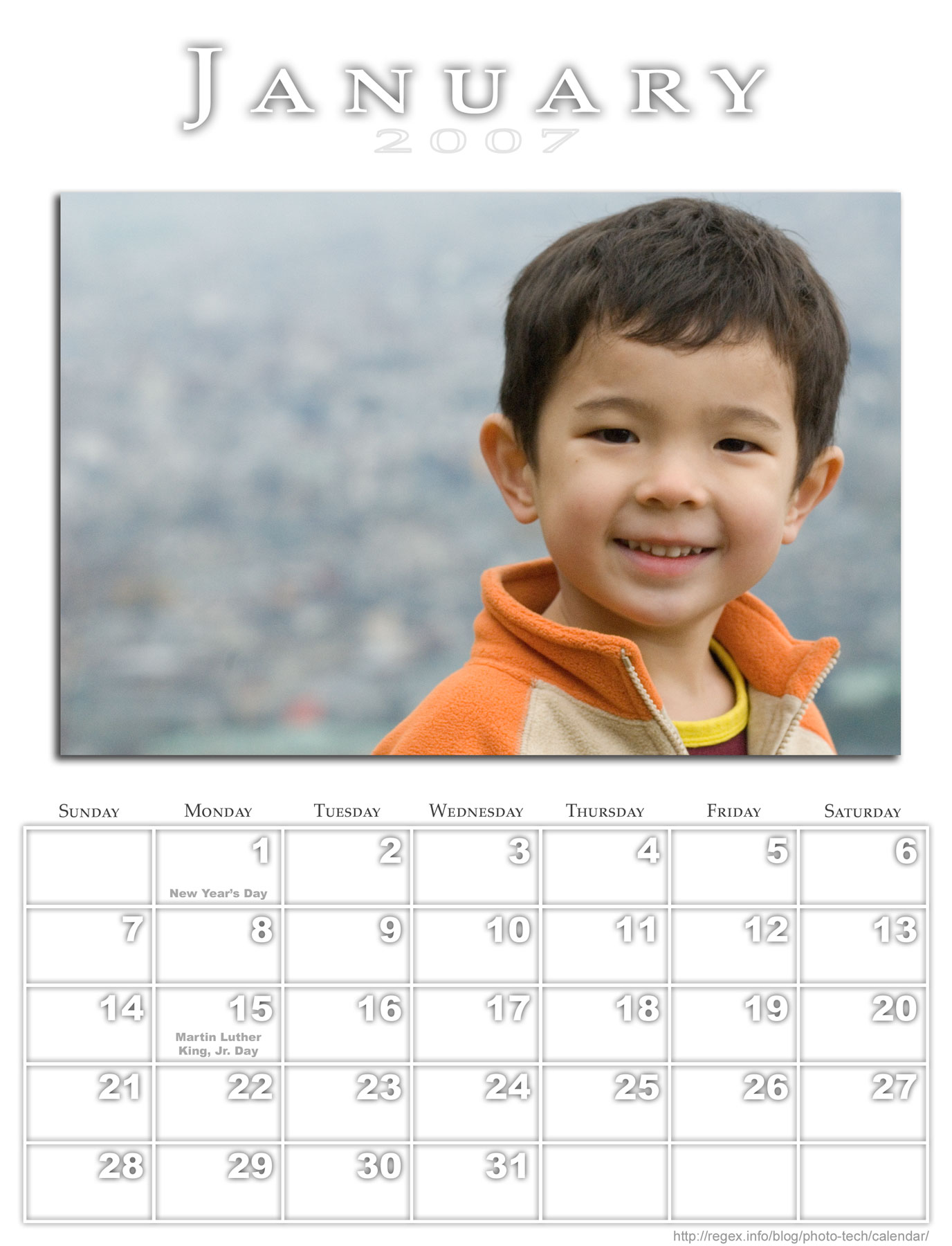 Photo-calendar createdwith Jeffrey's Photoshop Calendar-Building