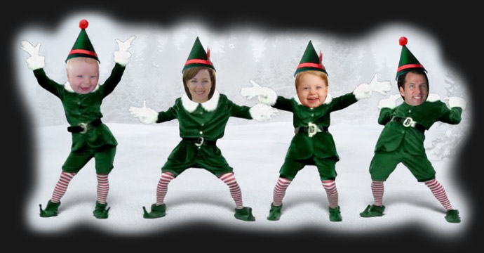 This is a photo of Zany Elf Yourself Printable