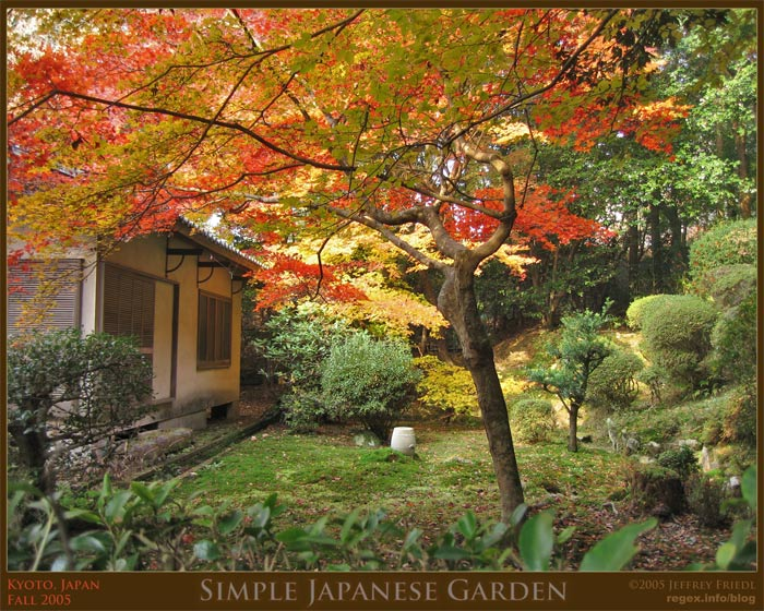 Japanese Garden in Fall Colors