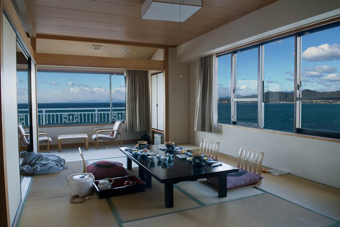 An example of HDR of questionable realism, a room at a seaside ryokan in Ise, Japan