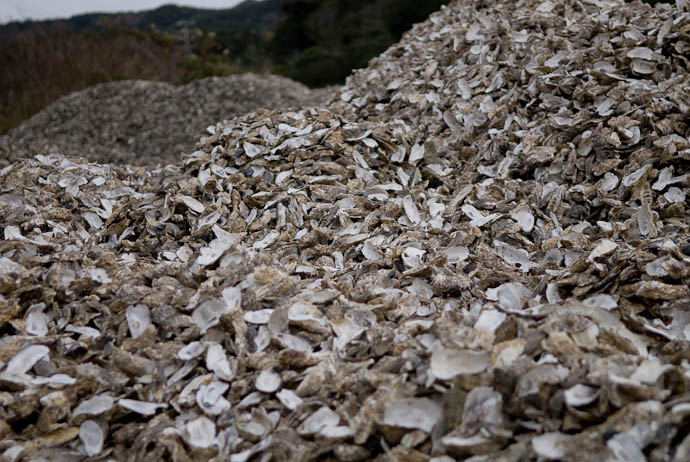 Mountains of Oyster Shells -- Shima, Mie, Japan -- Copyright 2006 Jeffrey Eric Francis Friedl
