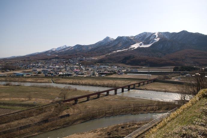 Wide-angle view of eastern Furano, Hokkaido, Japan