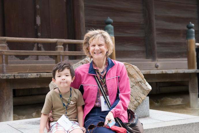 Anthony and Aunt Jeannette -- Kyoto, Japan -- Copyright 2007 Jeffrey Eric Francis Friedl, http://regex.info/blog/
