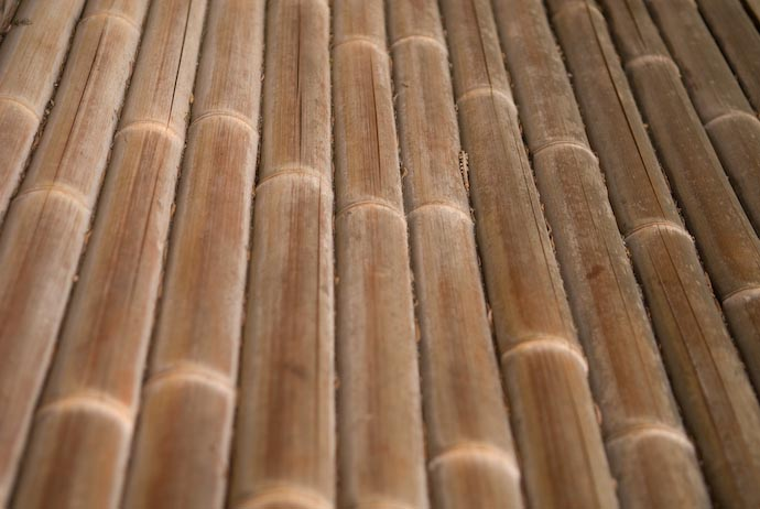 desktop background image of worn bamboo poorch floor of the tea house at the Murin -- Bamboo Floor -- Kyoto, Japan -- Copyright 2007 Jeffrey Eric Francis Friedl, http://regex.info/blog/