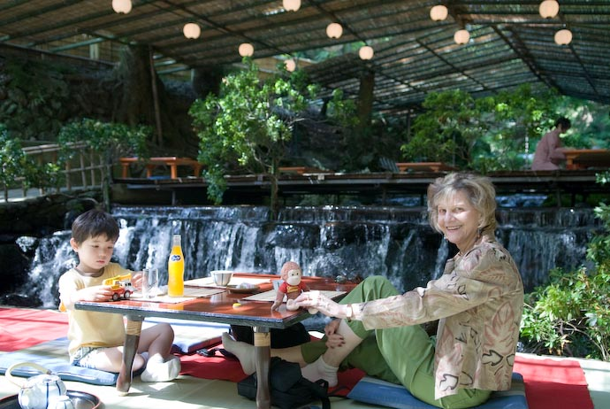 Lunch on the River at Hirobun, in Kibune Kyoto, Japan -- Copyright 2007 Jeffrey Eric Francis Friedl, http://regex.info/blog/