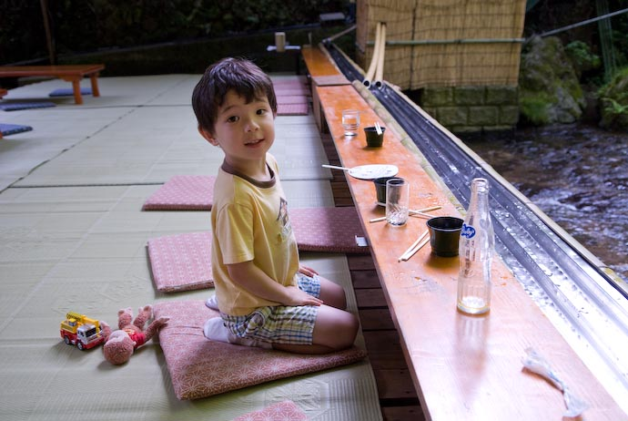 Little Japanese Boy with a Full Tummy Sitting seiza style -- Kyoto, Japan -- Copyright 2007 Jeffrey Eric Francis Friedl, http://regex.info/blog/