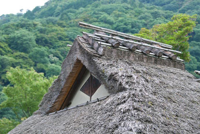 Roof and Mountains Entrance building to the Hougon'in Temple (宝厳院) -- Kyoto, Japan -- Copyright 2007 Jeffrey Eric Francis Friedl, http://regex.info/blog/