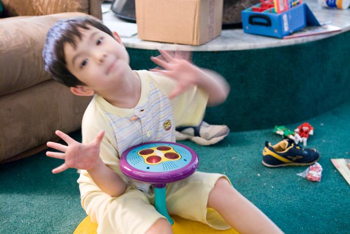"Toys N Joys Hawaii : Jeffrey friedl s anthony says ""hi to mommy on a"