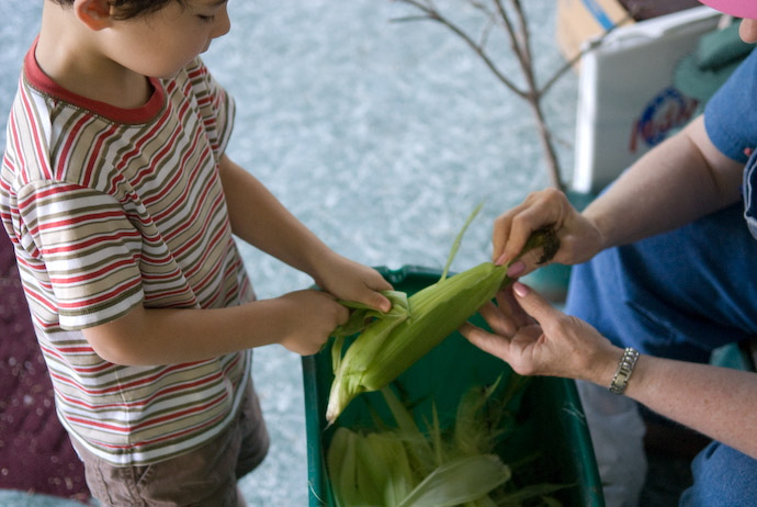First Experience With Freshly Picked Corn -- Rootstown, Ohio, USA -- Copyright 2007 Jeffrey Eric Francis Friedl