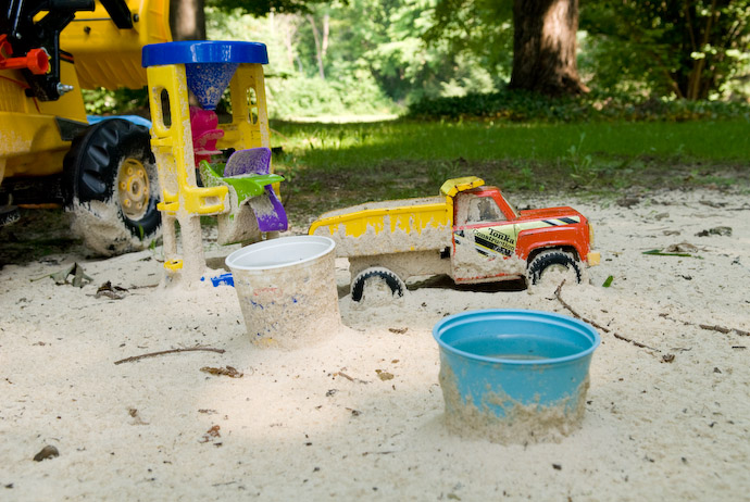 Sand-Splattered Toys -- Rootstown, Ohio, USA -- Copyright 2007 Jeffrey Eric Francis Friedl