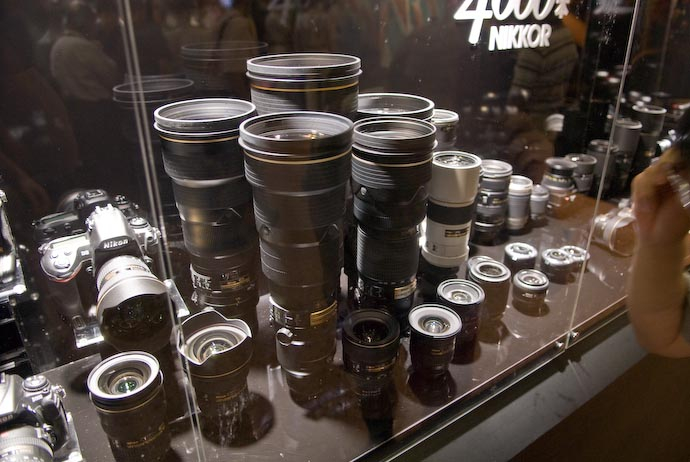 BIG Friggin' Lenses (This is only about a third of the entire display) -- Osaka, Japan -- Copyright 2007 Jeffrey Eric Francis Friedl