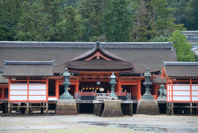 A small part of Itsukushima Shrine, Miyajima, Japan during low tide -- Miyajima, Hiroshima, Japan -- Copyright 2007 Jeffrey Eric Francis Friedl
