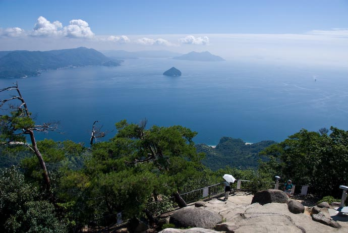 "Shishi-iwa (""Lion Rock"") Observation Area, 448m -- Miyajima, Hiroshima, Japan -- Copyright 2007 Jeffrey Eric Francis Friedl"