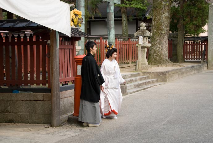 Japanese Bride and Groom -- Miyajima, Hiroshima, Japan -- Copyright 2007 Jeffrey Eric Francis Friedl