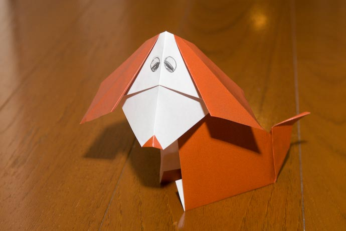 "Origami ""Bobblehead"" Puppy -- Kyoto, Japan -- Copyright 2007 Jeffrey Eric Francis Friedl, http://regex.info/blog/"