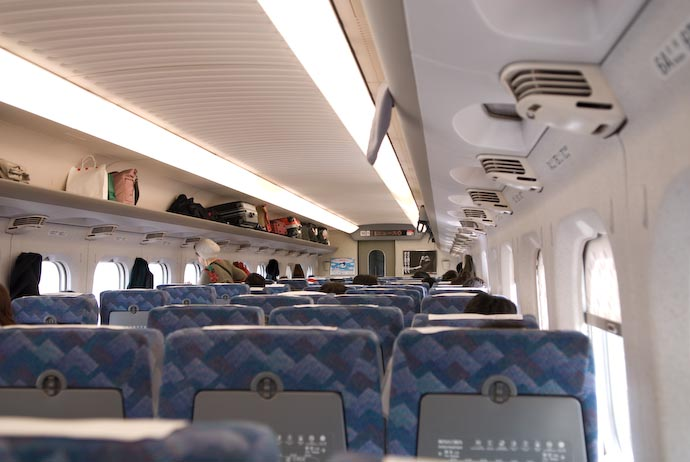 View from Car #14, Seat 5A -- Various, Kyoto, Japan -- Copyright 2008 Jeffrey Eric Francis Friedl, http://regex.info/blog/