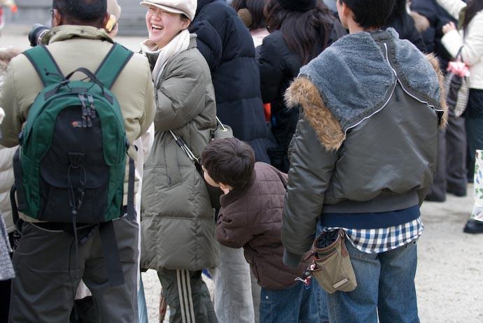 Hiding Behind Mommy -- Kyoto, Japan -- Copyright 2008 Jeffrey Eric Francis Friedl, http://regex.info/blog/