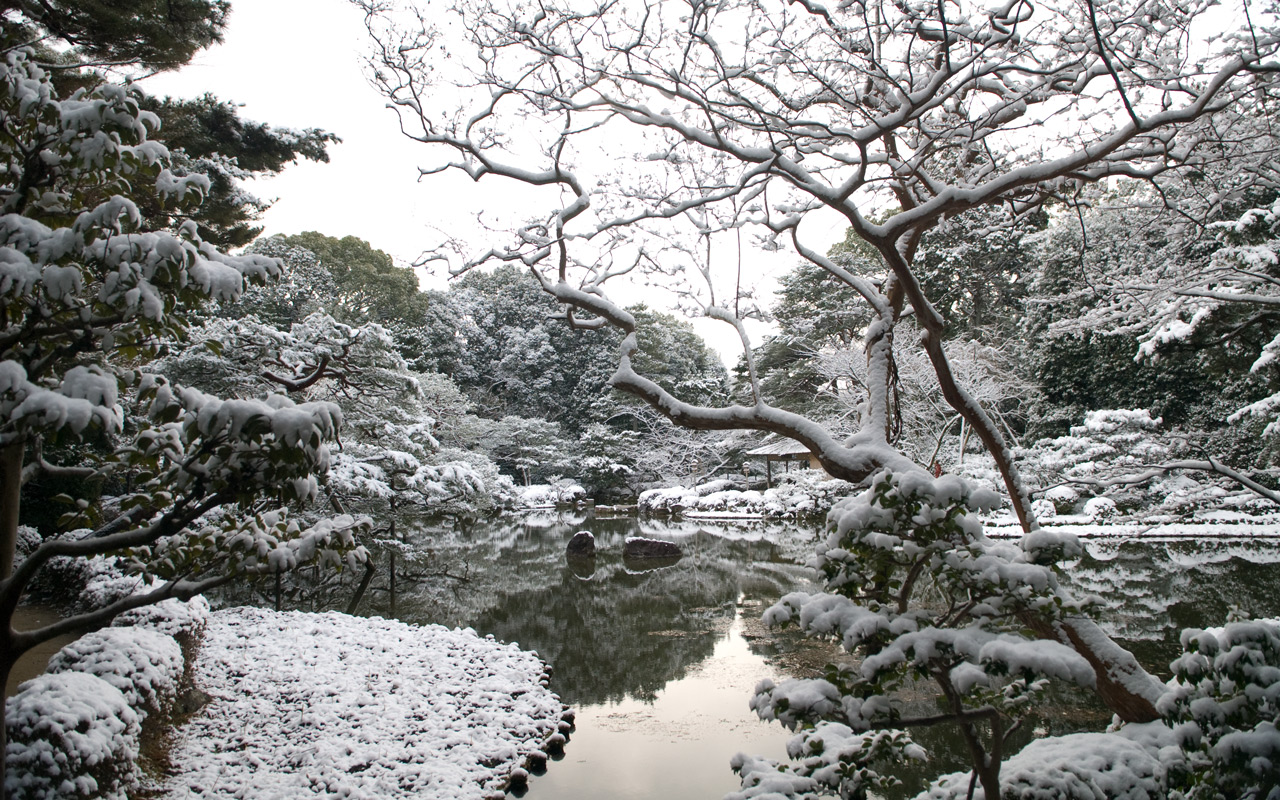 Jeffrey friedl 39 s blog snowy round trip to the heian for Winter garden