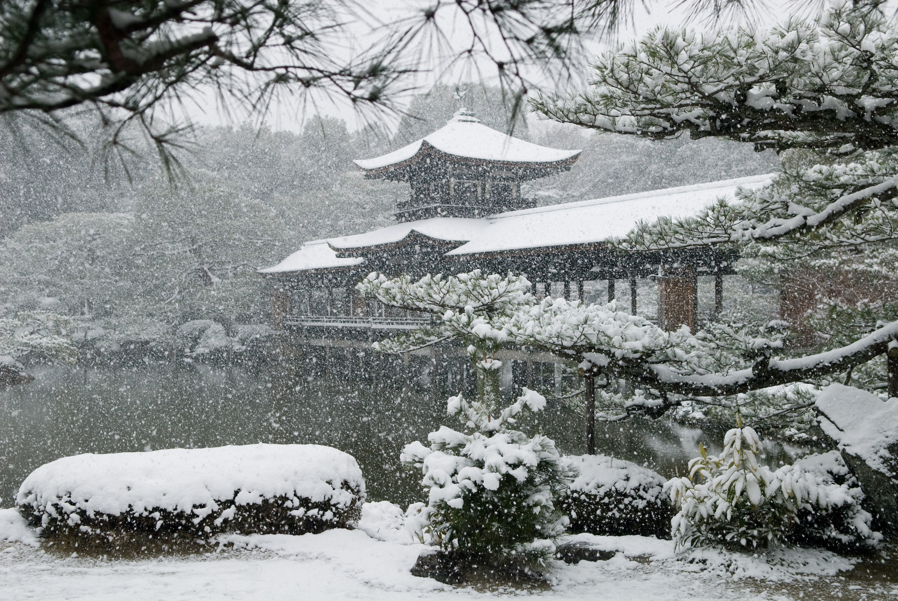 Kyoto photo heian jingu garden in winter inside kyoto for Winter garden