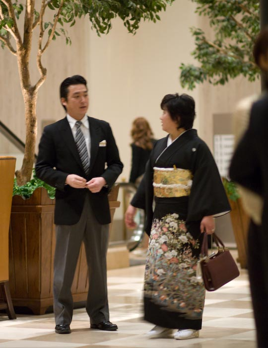 Hotel Staff and Wedding Guest -- Kanazawa-city, Ishikawa-ken, Japan -- Copyright 2008 Jeffrey Eric Francis Friedl, http://regex.info/blog/