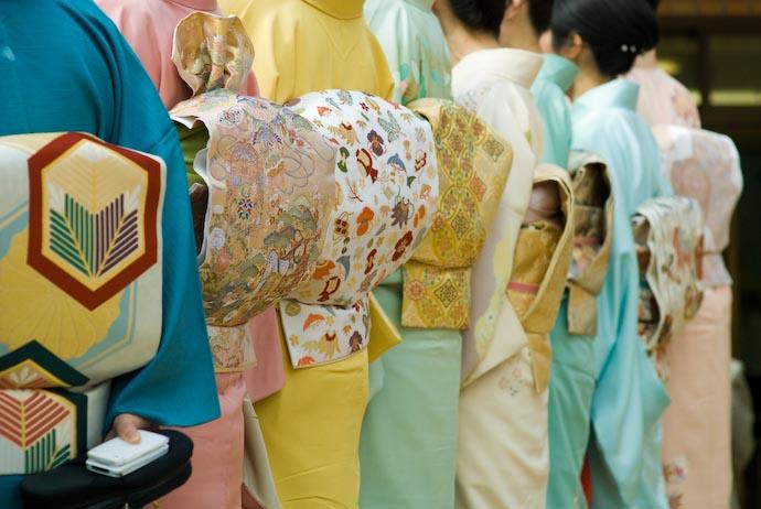 Wall of Kimono -- Kyoto, Japan -- Copyright 2008 Jeffrey Eric Francis Friedl, http://regex.info/blog/