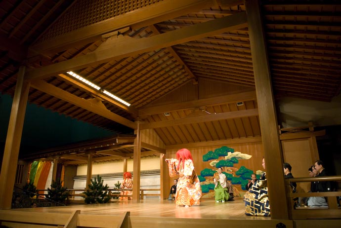 Noh-Theater Stage -- Kyoto, Japan -- Copyright 2008 Jeffrey Eric Francis Friedl, http://regex.info/blog/