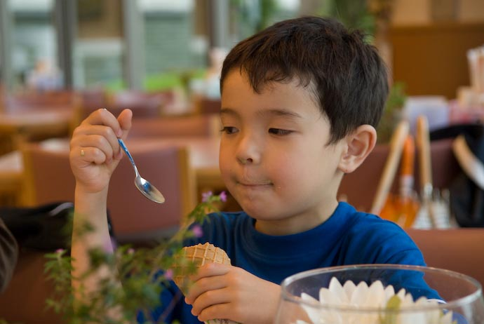 Little Boys Don't Eat Ice Cream They Experience It Click to see the large version: he has ice cream on his nose -- Kusatsu, Shiga, Japan -- Copyright 2008 Jeffrey Eric Francis Friedl