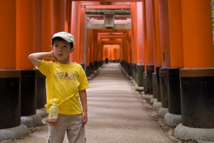 Marveling at Innumerable Shrine Gates Fushimi Inari Shrine, Kyoto Japan -- Copyright 2008 Jeffrey Eric Francis Friedl, http://regex.info/blog/