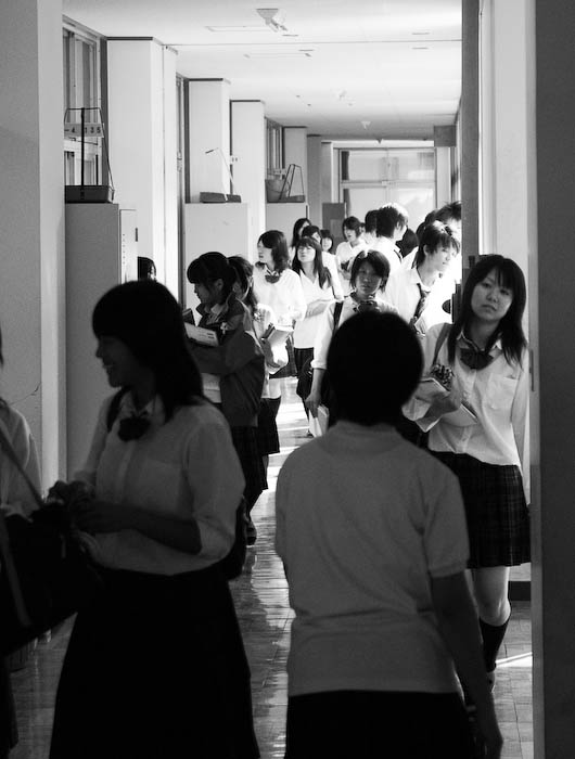 Typical School Hallway -- Uji, Kyoto, Japan -- Copyright 2008 Jeffrey Eric Francis Friedl, http://regex.info/blog/