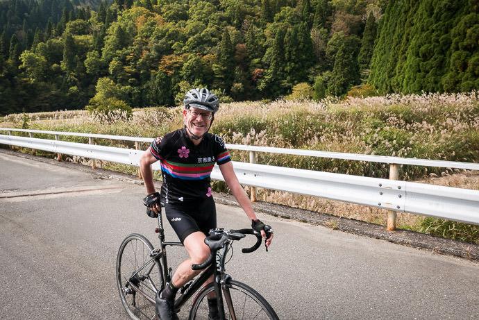 Neil Holt always seem to have a smile -- Takashima, Shiga, Japan -- Copyright 2015 Jeffrey Friedl, http://regex.info/blog/