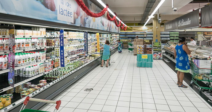 Modern Supermarket Casino Johnston Supermarket -- Nouméa, South, New Caledonia -- Copyright 2015 Jeffrey Friedl, http://regex.info/blog/ -- This photo is licensed to the public under the Creative Commons Attribution-NonCommercial 4.0 International License http://creativecommons.org/licenses/by-nc/4.0/ (non-commercial use is freely allowed if proper attribution is given, including a link back to this page on http://regex.info/ when used online)