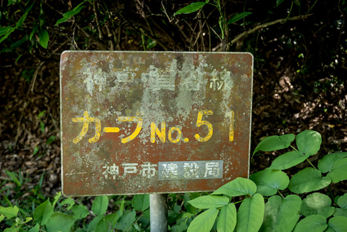 """ Curve #51 "" every curve was conveniently numbered -- Kobe, Hyogo, Japan -- Copyright 2016 Jeffrey Friedl, http://regex.info/blog/"