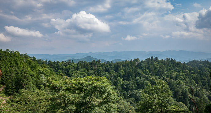 Pristine Views wide, expansive views with no evidence whatsoever of human presence -- Kyoto, Japan -- Copyright 2016 Jeffrey Friedl, http://regex.info/blog/