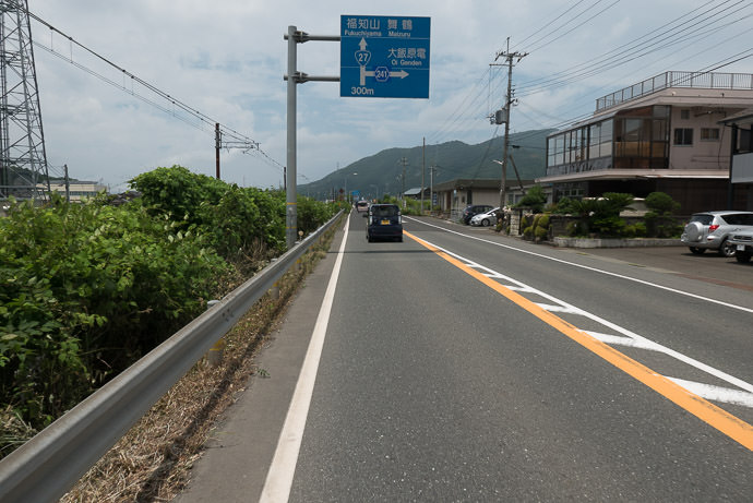 Monotonous National Road 11:43am - taken while cycling at 32 kph (20 mph) -- Ōi-gun -- Kyoto, Japan -- Copyright 2016 Jeffrey Friedl, http://regex.info/blog/ -- This photo is licensed to the public under the Creative Commons Attribution-NonCommercial 4.0 International License http://creativecommons.org/licenses/by-nc/4.0/ (non-commercial use is freely allowed if proper attribution is given, including a link back to this page on http://regex.info/ when used online)