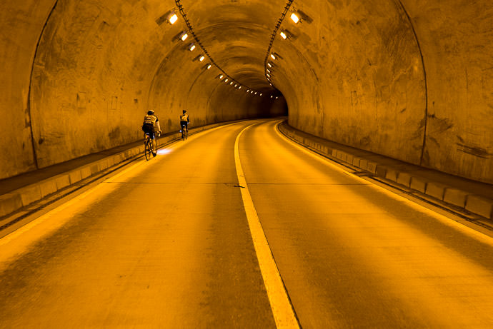 Respite from the Heat lots of tunnels today, but all devoid of traffic 1:36pm - taken while cycling at 12 kph (7 mph) -- Takayama, Gifu, Japan -- Copyright 2016 Jeffrey Friedl, http://regex.info/blog/ -- This photo is licensed to the public under the Creative Commons Attribution-NonCommercial 4.0 International License http://creativecommons.org/licenses/by-nc/4.0/ (non-commercial use is freely allowed if proper attribution is given, including a link back to this page on http://regex.info/ when used online)