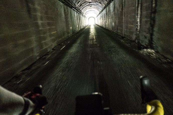 A Much -Older Tunnel 2:31pm - taken while cycling at 15 kph (10 mph) -- Takayama, Gifu, Japan -- Copyright 2016 Jeffrey Friedl, http://regex.info/blog/ -- This photo is licensed to the public under the Creative Commons Attribution-NonCommercial 4.0 International License http://creativecommons.org/licenses/by-nc/4.0/ (non-commercial use is freely allowed if proper attribution is given, including a link back to this page on http://regex.info/ when used online)