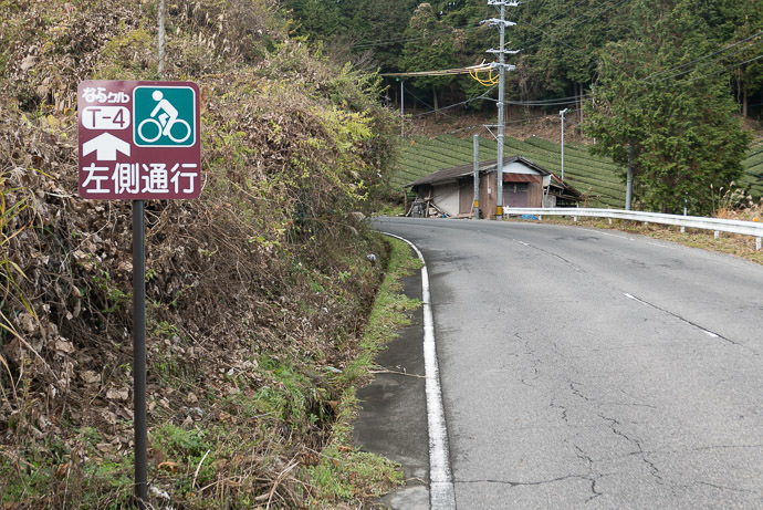 Keep Left it seems that Nara has some set cycling routes that this was part of 11:22am -- Yamabe-gun -- Yamabe-gun, Nara, Japan -- Copyright 2016 Jeffrey Friedl, http://regex.info/blog/ -- This photo is licensed to the public under the Creative Commons Attribution-NonCommercial 4.0 International License http://creativecommons.org/licenses/by-nc/4.0/ (non-commercial use is freely allowed if proper attribution is given, including a link back to this page on http://regex.info/ when used online)