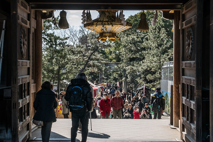 Main Entrance -- Kitano Tenman-gu Shrine (北野天満宮) -- Kyoto, Japan -- Copyright 2017 Jeffrey Friedl, http://regex.info/blog/ -- This photo is licensed to the public under the Creative Commons Attribution-NonCommercial 4.0 International License http://creativecommons.org/licenses/by-nc/4.0/ (non-commercial use is freely allowed if proper attribution is given, including a link back to this page on http://regex.info/ when used online)