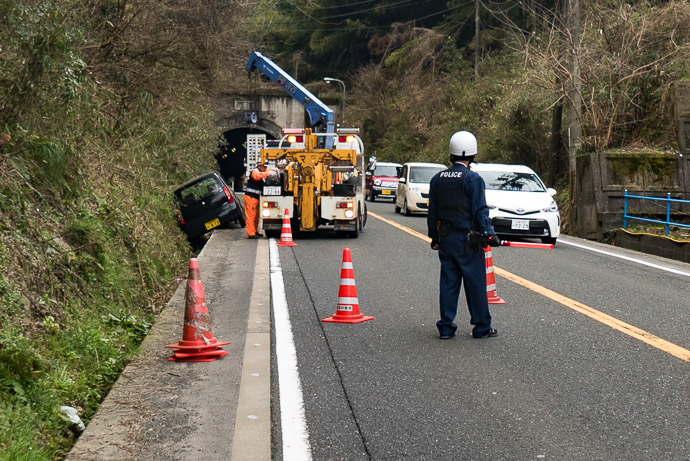 A Headwind is a relatively small problem to have 1:44 PM (from start: 5h 45m / 114 km / 70.9 miles) -- Maizuru, Kyoto, Japan -- Copyright 2017 Jeffrey Friedl, http://regex.info/blog/