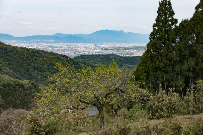 Facing Northwest across Uji, Fushimi, southern Kyoto, to Arashiyama and Mt. Atago -- Tsuzuki-gun -- Tsuzuki-gun, Kyoto, Japan -- Copyright 2017 Jeffrey Friedl, http://regex.info/blog/ -- This photo is licensed to the public under the Creative Commons Attribution-NonCommercial 4.0 International License http://creativecommons.org/licenses/by-nc/4.0/ (non-commercial use is freely allowed if proper attribution is given, including a link back to this page on http://regex.info/ when used online)