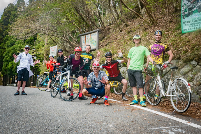 Group Shot at Hanase Pass -- Hanasetoge Bus Stop -- Kyoto, Japan -- Copyright 2017 Jeffrey Friedl, http://regex.info/blog/
