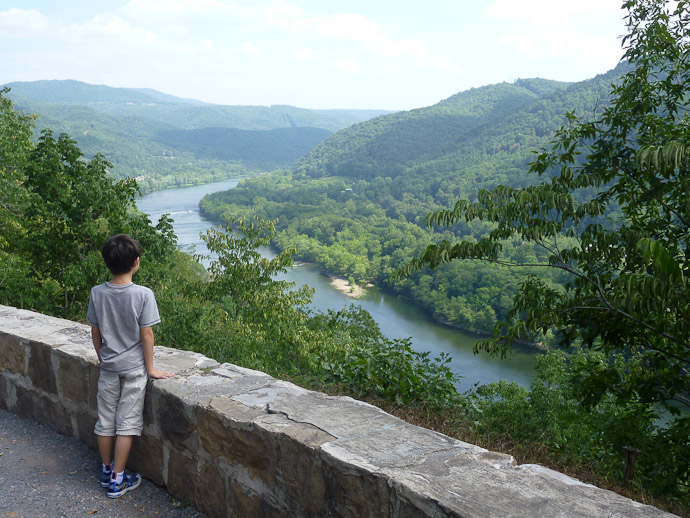 "Looking Down on The New River Hinton, West Virginia ( the name of the river is really ""New River"" ) -- http://regex.info/blog/"