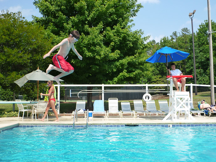 Being Silly off the diving board -- Charlotte, North Carolina, USA -- Copyright 2011 Jeffrey Friedl, http://regex.info/blog/
