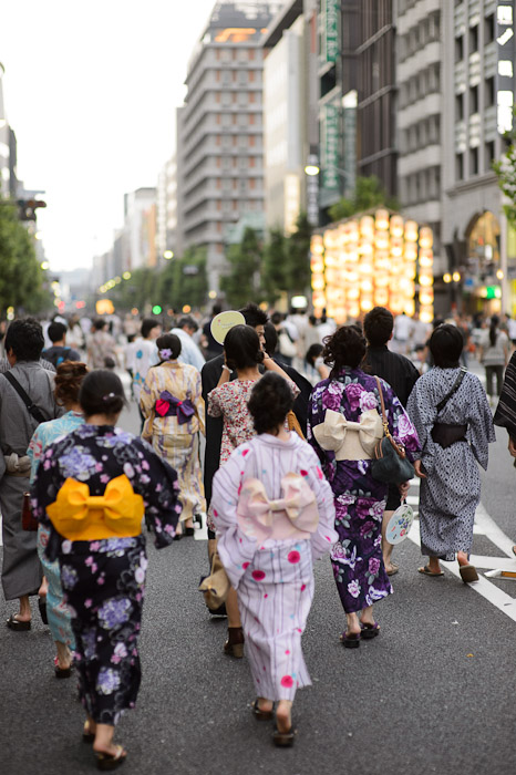 "Heading To Gion Matsuri ""yoi-yoi-yoi yama"", the first of three festival evenings  --  Kyoto, Japan  --  Copyright 2012 Jeffrey Friedl, http://regex.info/blog/"