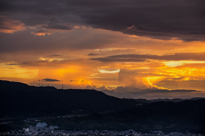 Storms Brewing to the West  --  Shogunzuka (将軍塚)  --  Kyoto, Japan  --  Copyright 2012 Jeffrey Friedl, http://regex.info/blog/