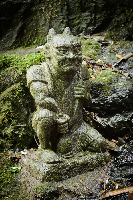 One of the Many Statues surrounding the falls  --  Kuuya-taki Waterfall (空也滝)  --  Kyoto, Japan  --  Copyright 2012 Jeffrey Friedl, http://regex.info/blog/