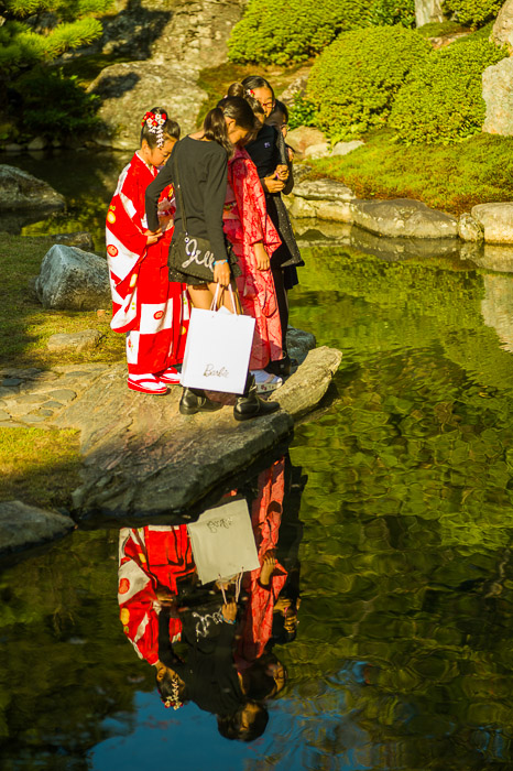 Colorful Reflections  --  Shoren'in Temple (青蓮院)  --  Kyoto, Japan  --  Copyright 2012 Jeffrey Friedl, http://regex.info/blog/