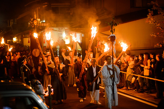 Some Kind of Procession -- Kurama Fire Festival (鞍馬の火祭り) -- Kyoto, Japan -- Copyright 2012 Jeffrey Friedl, http://regex.info/blog/ -- This photo is licensed to the public under the Creative Commons Attribution-NonCommercial 3.0 Unported License http://creativecommons.org/licenses/by-nc/3.0/ (non-commercial use is freely allowed if proper attribution is given, including a link back to this page on http://regex.info/ when used online)