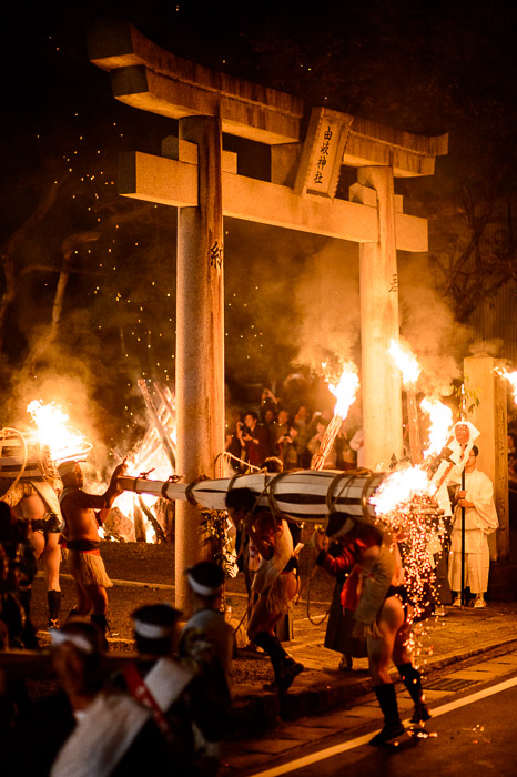 Looks a Bit Warm for the caboose -- Kurama Fire Festival (鞍馬の火祭り) -- Kyoto, Japan -- Copyright 2012 Jeffrey Friedl, http://regex.info/blog/ -- This photo is licensed to the public under the Creative Commons Attribution-NonCommercial 3.0 Unported License http://creativecommons.org/licenses/by-nc/3.0/ (non-commercial use is freely allowed if proper attribution is given, including a link back to this page on http://regex.info/ when used online)